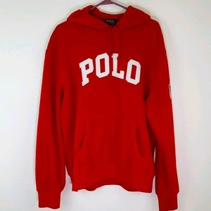 POLO RALPH LAUREN Red Hoodie, size L